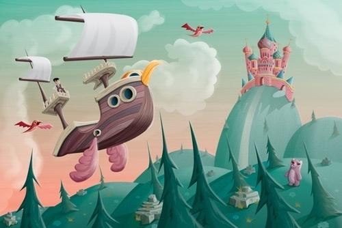 http://themightypencil.tumblr.com/ #illustration #fairytale #boat