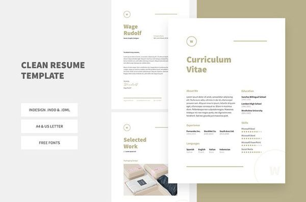 Best Free Resume Template Indesign images on Designspiration