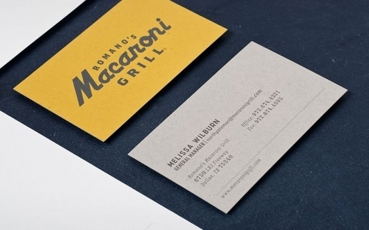 Graphic-ExchanGE - a selection of graphic projects - Page2RSS #printed #romanos #card #print #yellow #grill #romano #collateral #macaroni