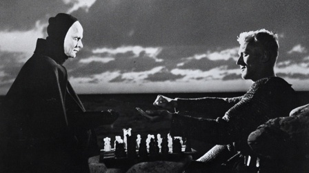 1950s, bergman, chess, death, knight, the seventh seal - inspiring picture on Favim.com #bergman #death #1950s