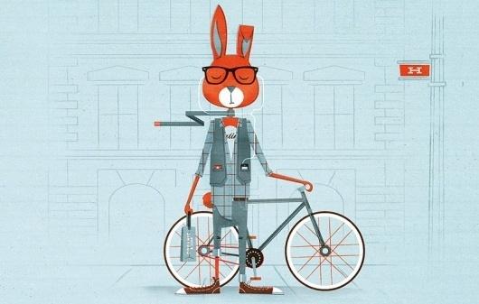 Illustration // Work // Foundry Co #illustration #rabbit