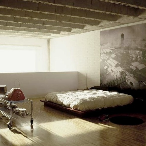 "Image Spark Image tagged ""interior design"", ""bedroom"" mcdade #ceilings #concrete #interiors #structure #architecture #light"