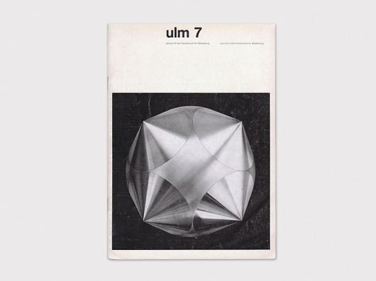 Display | Journal of the Hochschule fur Gestaltung ulm 7 | Collection #cover #design #graphic #book