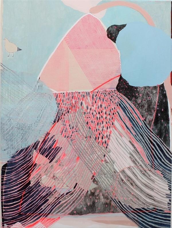 EarlySummerRain_detail #abstract #acrylic #on #painting #art #canvas #fine
