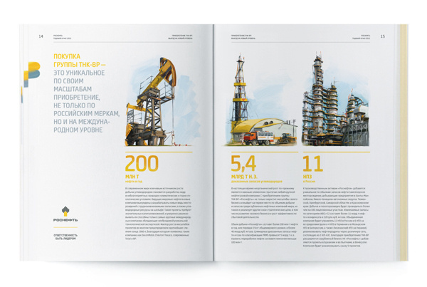 Rosneft, annual report 2012 on Behance #layout #annual #report