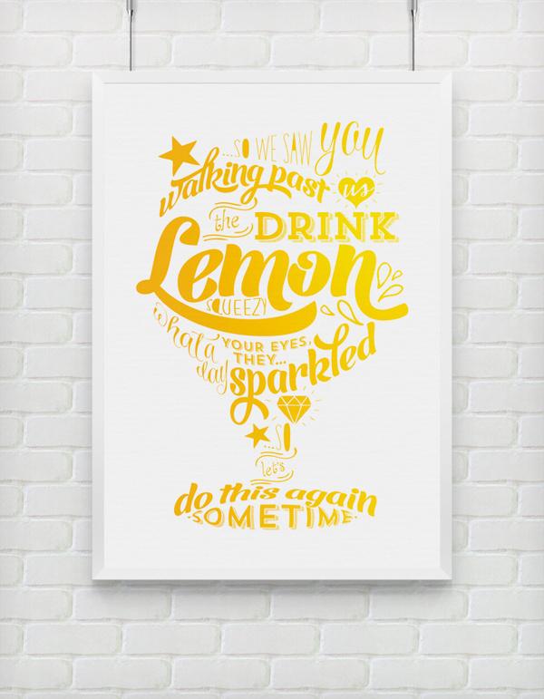 Lemon Squeezy print #print #yellow #typography