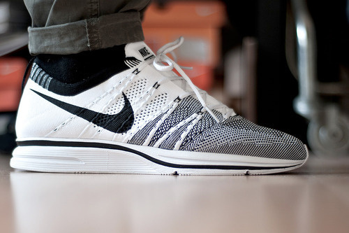 f3a7567b4c5 sweetsoles Nike Flyknit Trainer+ (by Diggitalos)  white  flyknit  black