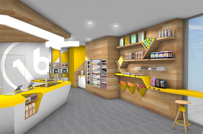 Fame, fame retail, retail, design, space, bright, bold, color, interior
