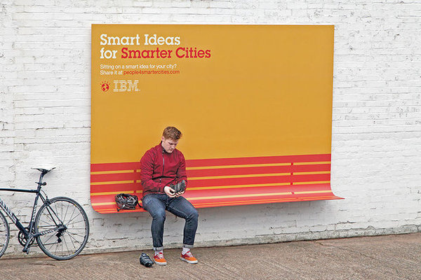1 | IBM's Clever Billboards Double As Benches, Shelter, And Ramps | Co.Design: business + innovation + design #ibm #ad