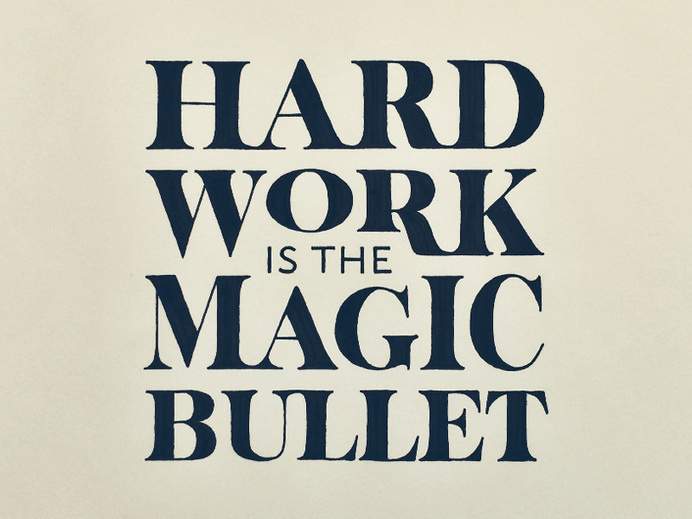 Work Hard #typography #inspiration #design #creative #hand lettering #artists #art