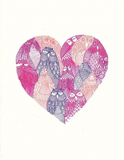 coqueterías - (via misswallflower) #heart #illustration #pink