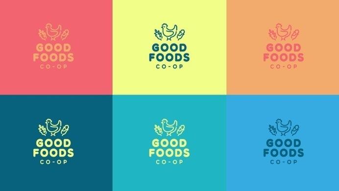 Good Foods Co-Op Colors #visual #logos #foods #branding #pattern #food #brand #identity #chicken #logo #good #patchwork