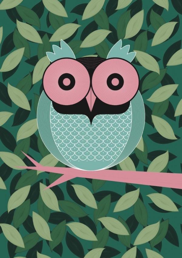Young Artist : Thomas Vogt - HouHouHaHa #minimalist #illustration #owl