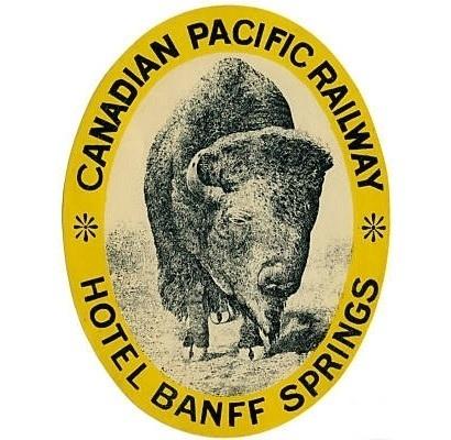 Design / buffalo, label #canada #vintage #label