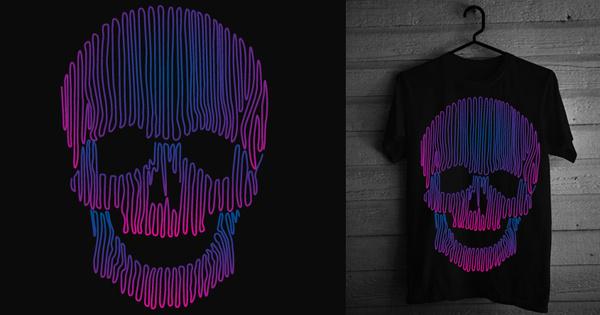 Skulledelic #clothing #design #graphic #black #shirt #threadless #tee #art #skull #sknny