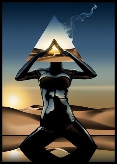 Sunrise series #goodall #horus #of #eye #illustration #jasper #art #desert