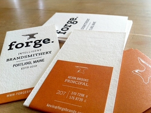 Lovely Stationery . Curating the very best of stationery design #white #business #card #orange #black #rust #collateral #anvil