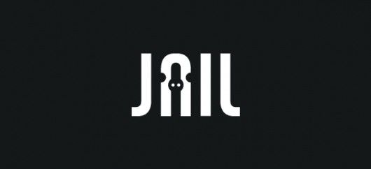 Redkroft Logo Collection on the Behance Network #negative #space #jail #logo #trapped #typography