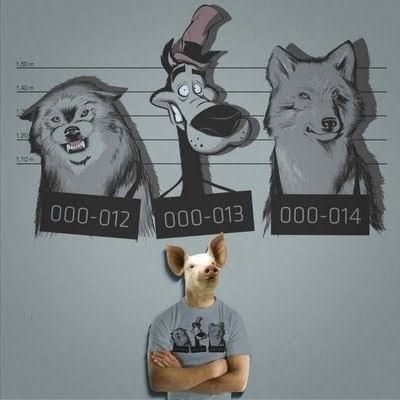 Who's bad? by IKE MOTTA @IkeMotta #illustration #bad #wolf #humor #shirt