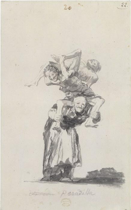 Francisco de Goya, Pesadilla (Nightmare) #goya #art