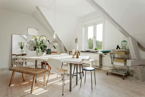 Небольшая квартира в Мальмё #interior #sweden