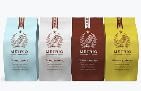 FFFFOUND! | Metrio Coffee - TheDieline.com: Package Design