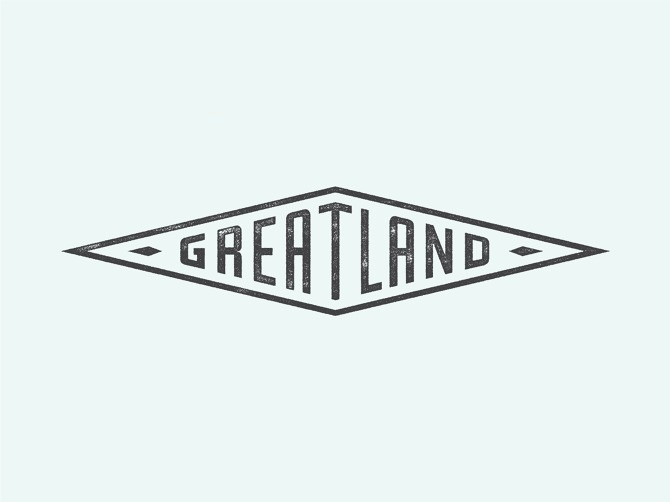 Greatland - Allan Peters #logo #badge #typography