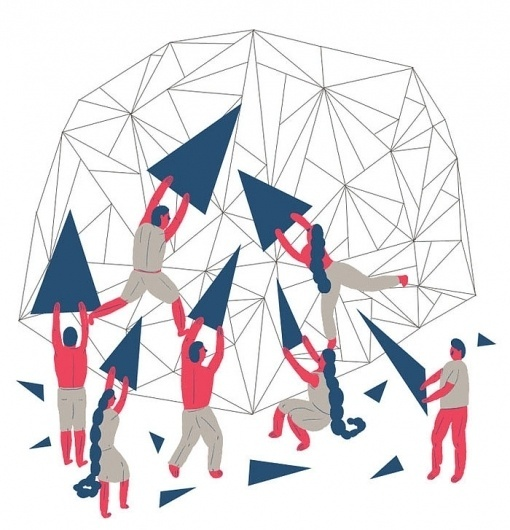 All sizes | The Tactile Dome | Flickr - Photo Sharing! #structure #illustration #building #triangle #collaboration #editorial #teamwork