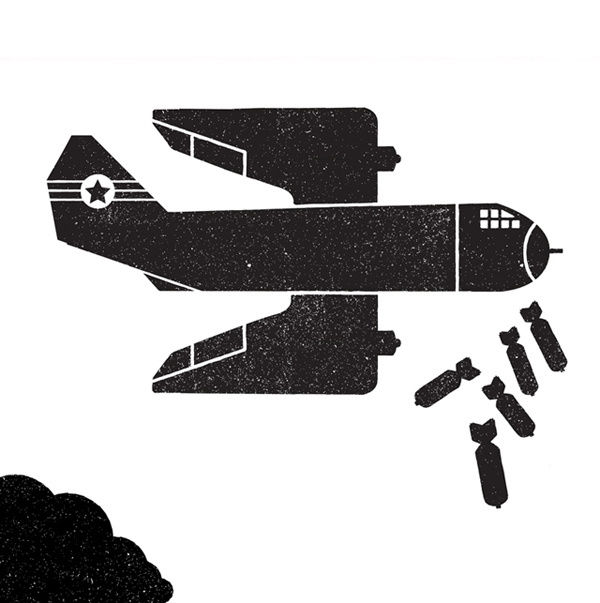 Telegramme_econom #vector #war #illustration #plane #bomber