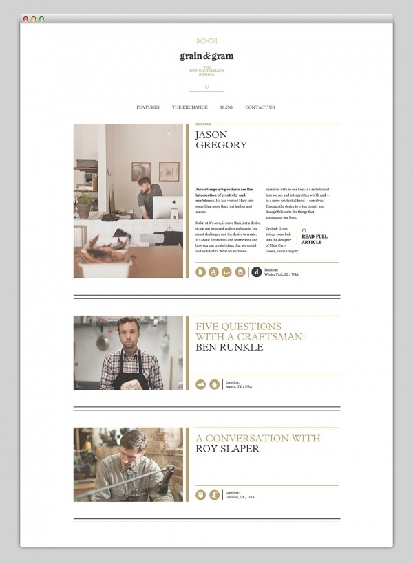 Grain & Gram #website #layout #design #web