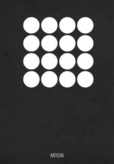 Film Posters on the Behance Network #moon #minimal #poster #film