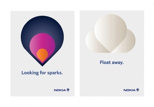 Sanderson Bob: Nokia — Collate #poster #collaboration #branding