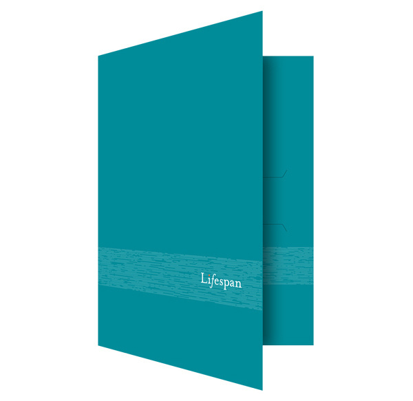Lifespan Hospitals Turquoise Pocket Folder (Front Open View) #hospital #turqoise #folder