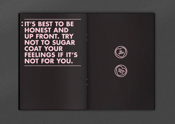 Re: Bittersweet Valentine's Day #booklet #love #pink #valentines #copywriting #hate #one colour