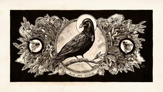Still Wings by `monavx on deviantART #illustration #crow