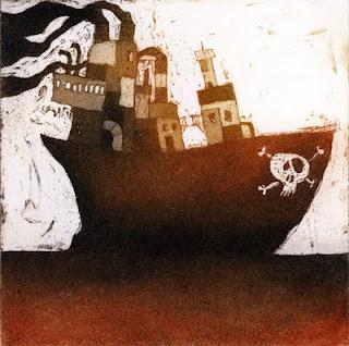 lundi 11 avril 2011 #pirates #sea #lithography #boat