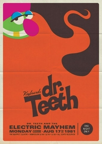 FFFFOUND! | design work life » Michael De Pippo: Retro Muppet Concert Posters #illustration