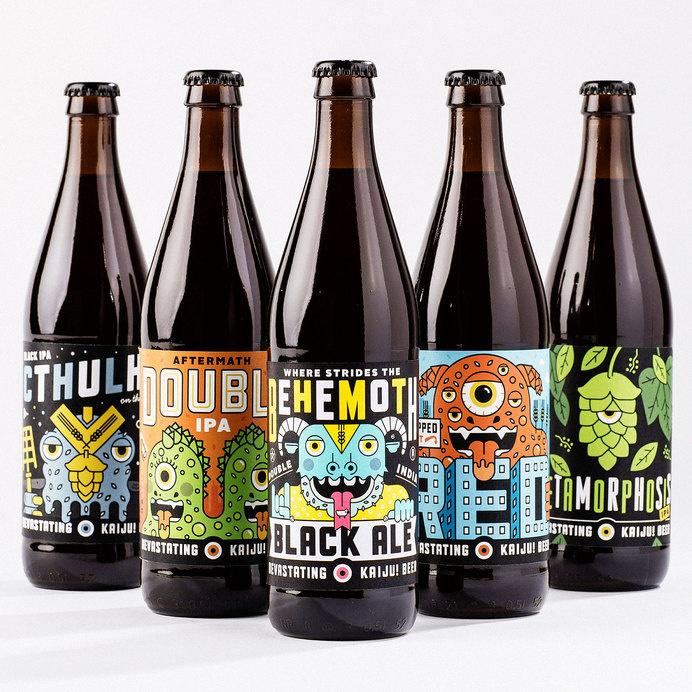 Kaiju Beer #packaging #beer #label #bottle