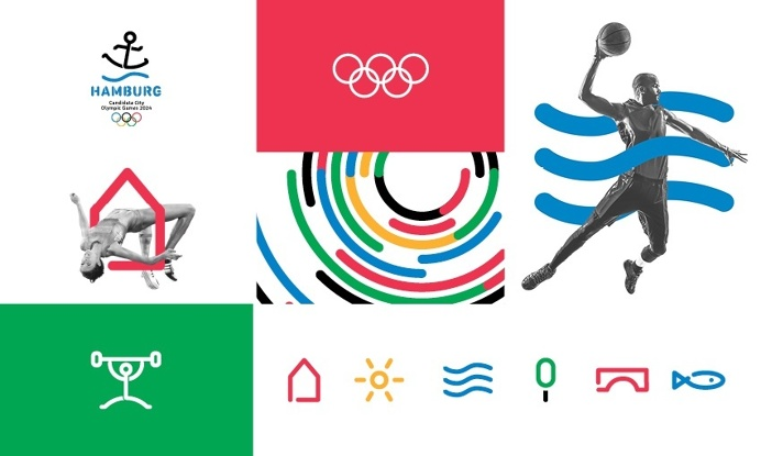 corporate design concept for the 2024 Olympic Games candidacy of Hamburg #Olympics #Hojin Kang #Barbara Madl #cameokid #branding #graphic #l