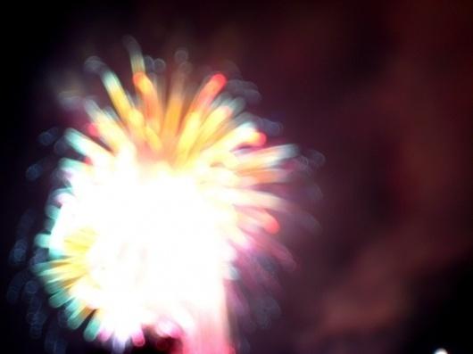 Dine Alone #color #fireworks #blur