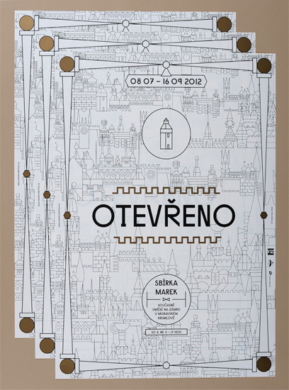 OTEVŘENO #city #illustration #layout #invite