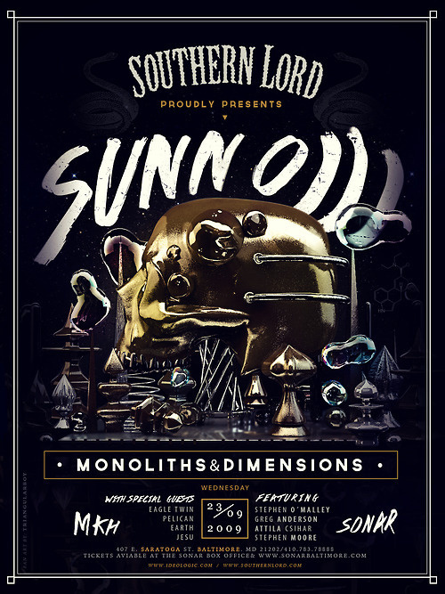 Sunn o))) poster————————get your work featured bysubmittingit todesignersof.comclick here to find out how you can spon #illustration #poster #typography