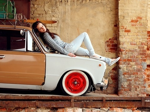 Лада 2101 m.jazz #wall #car #girl