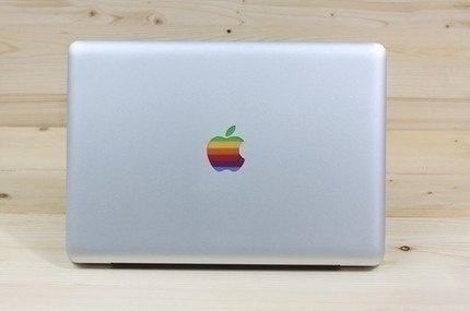 Macbook pro air 11 13 15 17 Retro Rainbow Apple Logo by jim1105 #apple #retro
