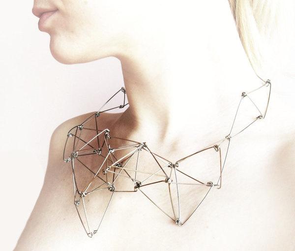 FUTURISTIKA geometric stainless steel necklace #metal #jewelry #geometry #necklace