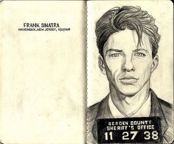 75 Exceptional Moleskine Notebook Artworks | Webdesigner Depot #illustration #frank #sinatra
