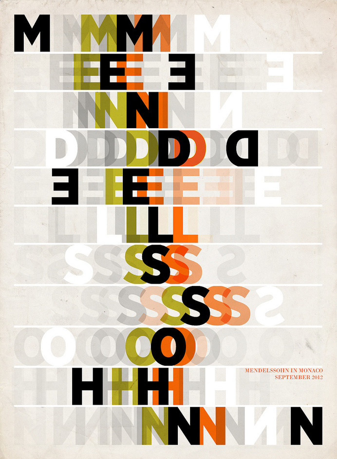 Mendelssohn Poster   Paul Grech #type #typograhpy #treatment #poster
