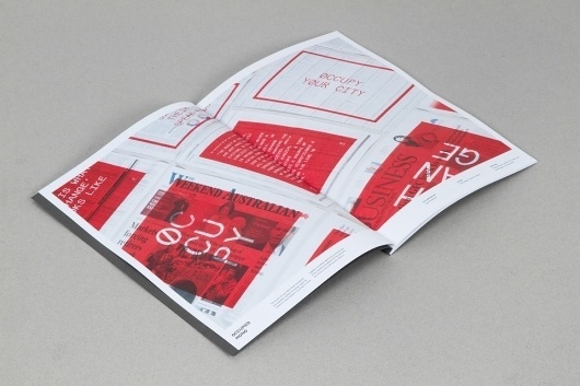 Graduate Portfolio - Aaron Gillett #red #design #book #spread #folio #typography