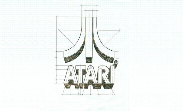 Atari Logo Schematics #logo