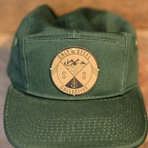 rainydaysandblankets: coldwindandiron: saltandsteel: 5 Panel || Camp Hats are online now. Very limited quantity so get them while they la #logo #mountains #hat #typography